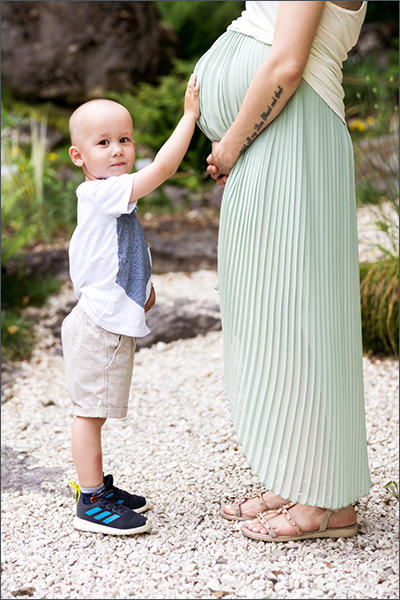 Schwangerschaftsbilder mit Kind